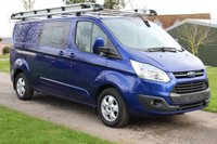 USED 2015 08 FORD TRANSIT CUSTOM 2.2 290 LIMITED LR DCB 124 BHP LIMITED - Combi - Long wheel base -