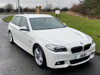 "USED 2016 16 BMW 5 SERIES 2.0 520D M SPORT 4d 188 BHP SAT NAV, LEATHER, 18"" ALLOYS"