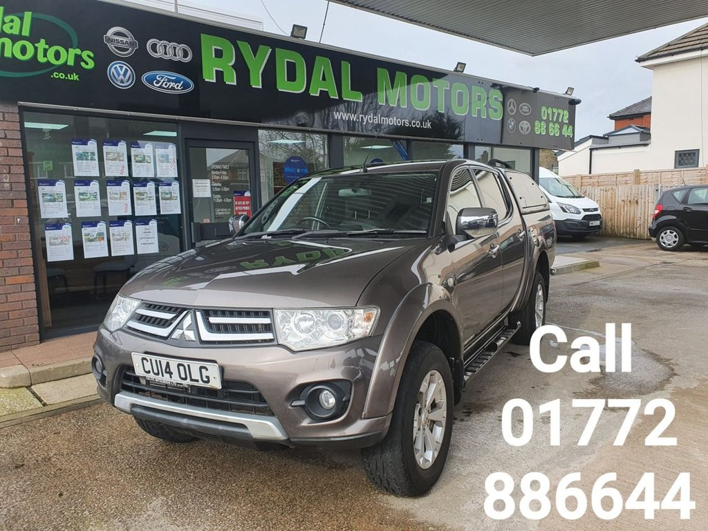 USED 2014 14 MITSUBISHI L200 2.5 DI-D 4X4 BARBARIAN LB DCB 175 BHP USED AS A CAR, IMMACULATE CONDITION, TRUCKMAN TOP FITTED