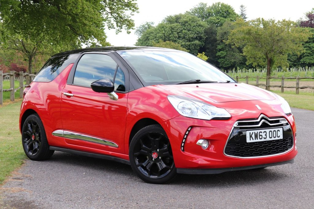 USED 2014 63 CITROEN DS3 1.6 E-HDI DSTYLE PLUS 3d 90 BHP Parking Aid + Cruise + Fsh