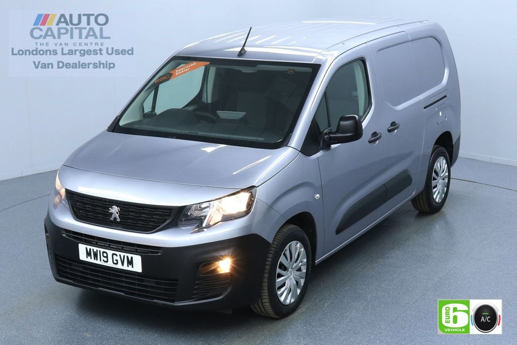 USED 2019 19 PEUGEOT PARTNER 1.6 BlueHDi Professional 100 BHP L2 LWB Euro 6 Low Emission Finance Packages Available | Air Con | Rear sensors | Twin sliding side doors