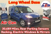 2016 FIAT DOBLO MAXI 1.3 16V SX MULTIJET in Blue LONG WHEEL BASE with Only 30,689 Miles, Air Conditioning, Electric Windows & Mirrors, Rear Parking Sensors, Racking, Front Fog Lamps and more £5980.00