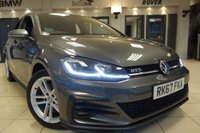USED 2017 67 VOLKSWAGEN GOLF 2.0 GTD TDI BLUELINE 5DR 182 BHP FINISHED IN STUNNING METALLIC IDIUM GREY WITH FULL BLACK CLOTH HEATED SEATS + VIRTUAL COCKPIT + SATELLITE NAVIGATION + DAB DIGITAL RADIO + BLUETOOTH MEDIA + APPLE CARPLAY + ANDRIOD AUTO + MIRROR LINK + ACTIVE PARK ASSIST + COLLISON WARNING + AUTO LIGHTS + VOICE COMMAND + POWER FOLDING MIRRORS + SELECTABLE DRIVING MODES + RAIN SENSORS + AUTO HOLD HILL START ASSIST + FULL SERVICE HISTORY + DUAL ZONE AIR CONDITIONING + CLIMATE CONTROL + CRUISE CONTROL + ULEZ COMPLIANT