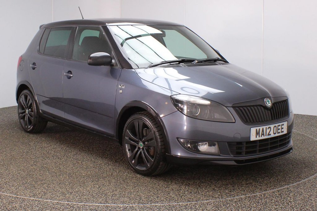 USED 2012 12 SKODA FABIA 1.6 MONTE CARLO TDI CR 5DR 1 OWNER 105 BHP FULL SERVICE HISTORY + £20 12 MONTHS ROAD TAX + PARKING SENSOR + CRUISE CONTROL + CLIMATE CONTROL + RADIO/CD/AUX + PRIVACY GLASS + XENON HEADLIGHTS + ELECTRIC WINDOWS + ELECTRIC/HEATED DOOR MIRRORS + 17 INCH ALLOY WHEELS