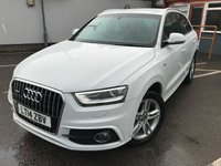 USED 2014 14 AUDI Q3 2.0 TFSI QUATTRO S LINE 5d 168 BHP ONE OWNER, 4WD, RAC APPROVED