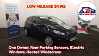 2015 FORD FIESTA 1.6 ECONETIC TDCI 95 BHP in Blue with Low Mileage (34,131), One Owner from New,Aux & USB, Heated Windscreen, Electric Windows and more £4980.00