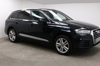 USED 2016 66 AUDI Q7 3.0 TDI QUATTRO S LINE 5d AUTO 215 BHP Stunning metallic Navarra Blue, styled with 20 inch alloys & black half leather interior complete with FULL ( Part Audi) Service History kept by its 1 Previous Owner. Features such as; Parking Sensors, Electronically operated folding Seats, Wireless phone charging, SAT NAV, Bluetooth, DAB Radio,  In car entertainment - CD / AUX / SD/ 2 USB PORTS, Auto start / stop, Air con, Dual climate control in the front and back,  Privacy Glass, Roof Rails,