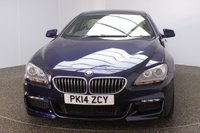 USED 2014 02 BMW 6 SERIES GRAN COUPE 3.0 640D M SPORT GRAN COUPE 4DR AUTO 309 BHP FULL BMW SERVICE HISTORY + HEATED EXCLUSIVE NAPPA LEATHER SEATS + SATELLITE NAVIGATION + SURROUND VIEW CAMERA + PANORAMIC ROOF + PARKING SENSOR + BLUETOOTH + CRUISE CONTROL + CLIMATE CONTROL + MULTI FUNCTION WHEEL + ELECTRIC/MEMORY FRONT SEATS + DAB RADIO + ELECTRIC WINDOWS + ELECTRIC/HEATED DOOR MIRRORS + XENON HEADLIGHTS + PRIVACY GLASS + 20 INCH ALLOY WHEELS