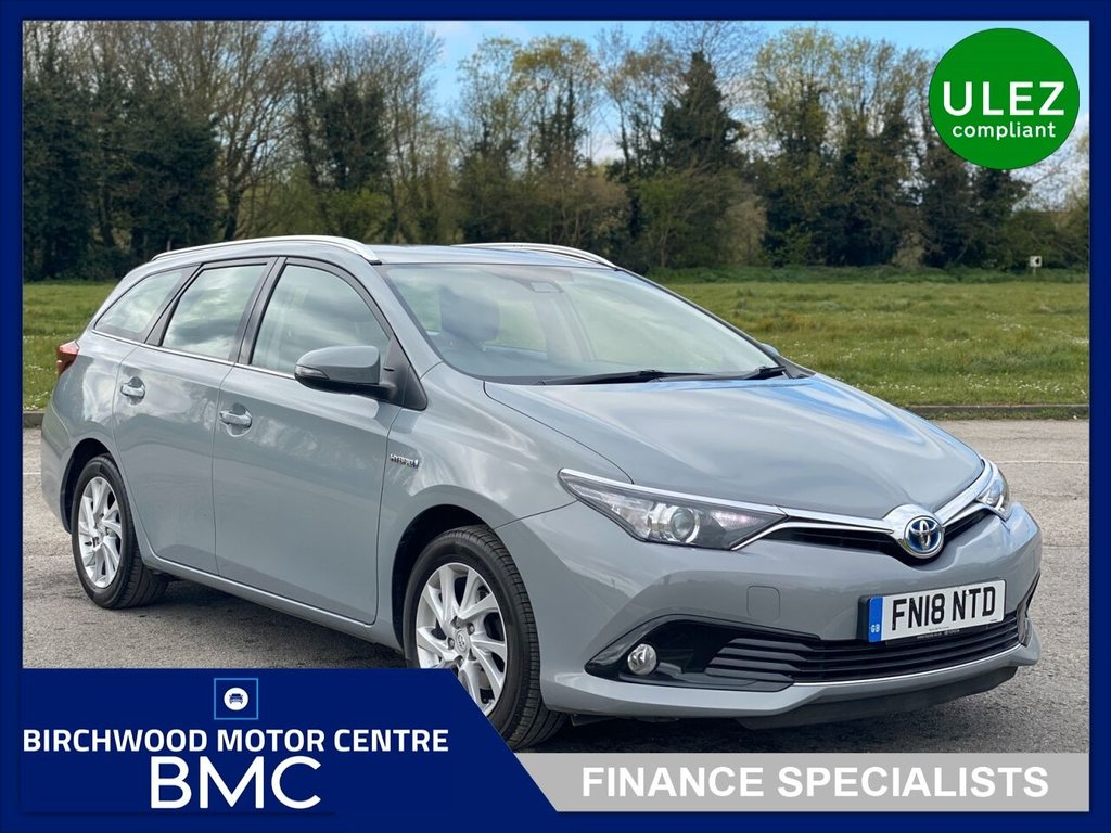 USED 2018 18 TOYOTA AURIS 1.8 VVT-I ICON TECH TOURING SPORTS 5d 135 BHP, HYBRID ELECTRIC-Ulez Compliant, 1 OWNER, CVT-AUTOMATIC, SAT NAVIGATION, REVERSE CAMERA, PARKING SENSORS, EXCELLENT EXAMPLE THROUGHOUT