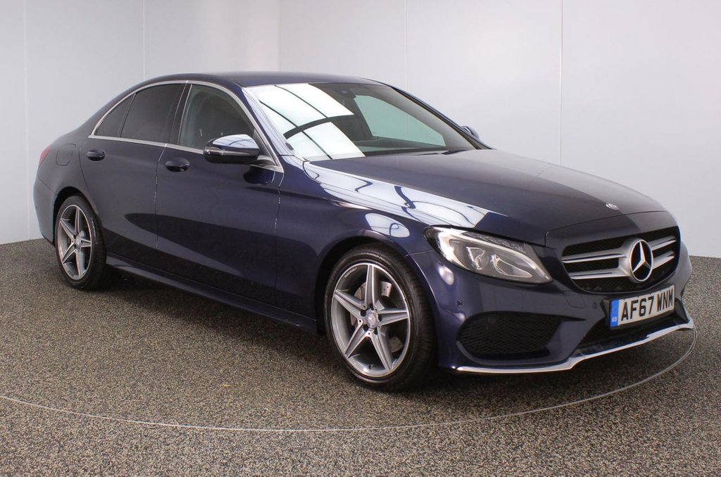 USED 2017 67 MERCEDES-BENZ C CLASS 2.1 C 220 D AMG LINE 4DR AUTO 1 OWNER 170 BHP FULL SERVICE HISTORY + HEATED LEATHER SEATS + SATELLITE NAVIGATION + REVERSE CAMERA + PARKING SENSOR + BLUETOOTH + CRUISE CONTROL + CLIMATE CONTROL + MULTI FUNCTION WHEEL + PRIVACY GLASS + DAB RADIO + ELECTRIC WINDOWS + ELECTRIC/HEATED/FOLDING DOOR MIRRORS + 18 INCH ALLOY WHEELS
