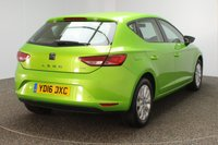 USED 2016 16 SEAT LEON 1.6 TDI SE TECHNOLOGY 5DR 1 OWNER 110 BHP FULL SERVICE HISTORY + £20 12 MONTHS ROAD TAX + SATELLITE NAVIGATION + BLUETOOTH + CRUISE CONTROL + MULTI FUNCTION WHEEL + AIR CONDITIONING + DAB RADIO + ELECTRIC WINDOWS + RADIO/CD/AUX/USB/SD + ELECTRIC/HEATED DOOR MIRRORS + 16 INCH ALLOY WHEELS
