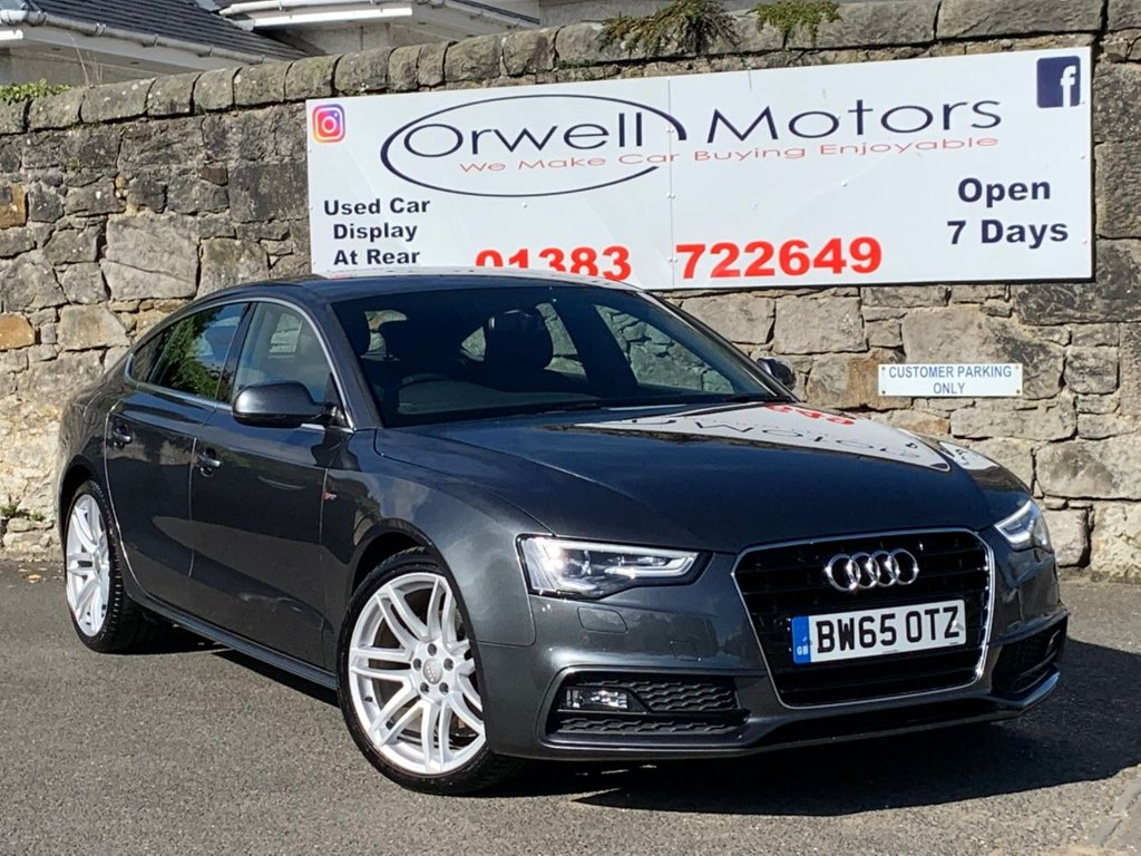 USED 2016 65 AUDI A5 2.0 TDI S LINE 5d 187 BHP 1 OWNER FROM NEW+FINANCE AVAILABLE+FULL LEATHER+FULL SERVICE HISTORY