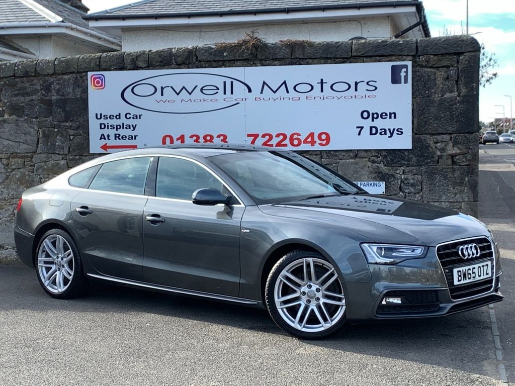 USED 2016 65 AUDI A5 2.0 TDI S LINE 5d 187 BHP 1 OWNER FROM NEW+FINANCE AVAILABLE+FULL LEATHER+FULL SERVICE HISTORY+HEATED FRONT SEATS+SUPPLIED WITH 1 YEARS MOT