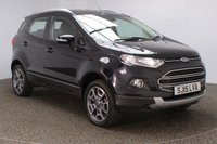 USED 2015 15 FORD ECOSPORT 1.0 TITANIUM X-PACK 5DR 124 BHP SERVICE HISTORY + LEATHER SEATS + PARKING SENSOR + BLUETOOTH + CRUISE CONTROL + CLIMATE CONTROL + MULTI FUNCTION WHEEL + RADIO/CD/AUX/USB + ELECTRIC WINDOWS + ELECTRIC MIRRORS + 17 INCH ALLOY WHEELS