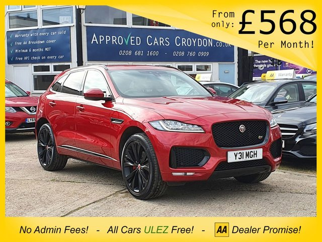 USED 2017 17 JAGUAR F-PACE V6 S STATION WAGON Supercharged 380PS Petrol AWD 5dr AMAZING 380 BHP, TONS OF EXTRAS, BEST COLOUR COMBINATION! PRIVATE PLATE INCLUDED IN SALE!