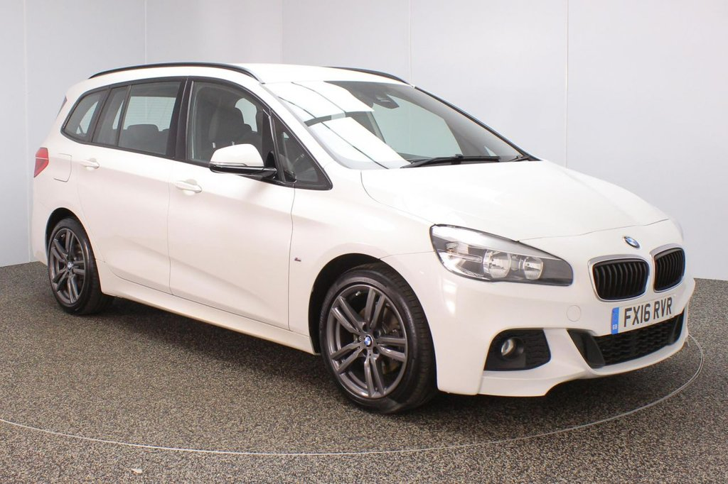 USED 2016 16 BMW 2 Series GRAN TOURER 2.0 218D M SPORT GRAN TOURER 5DR 1 OWNER 148 BHP FULL BMW SERVICE HISTORY + £30 12 MONTHS ROAD TAX + 7 SEATS + DAKOTA LEATHER SEATS + SATELLITE NAVIGATION + PARKING SENSOR + BLUETOOTH + CLIMATE CONTROL + MULTI FUNCTION WHEEL + DAB RADIO + ELECTRIC WINDOWS + ELECTRIC MIRRORS + 18 INCH ALLOY WHEELS