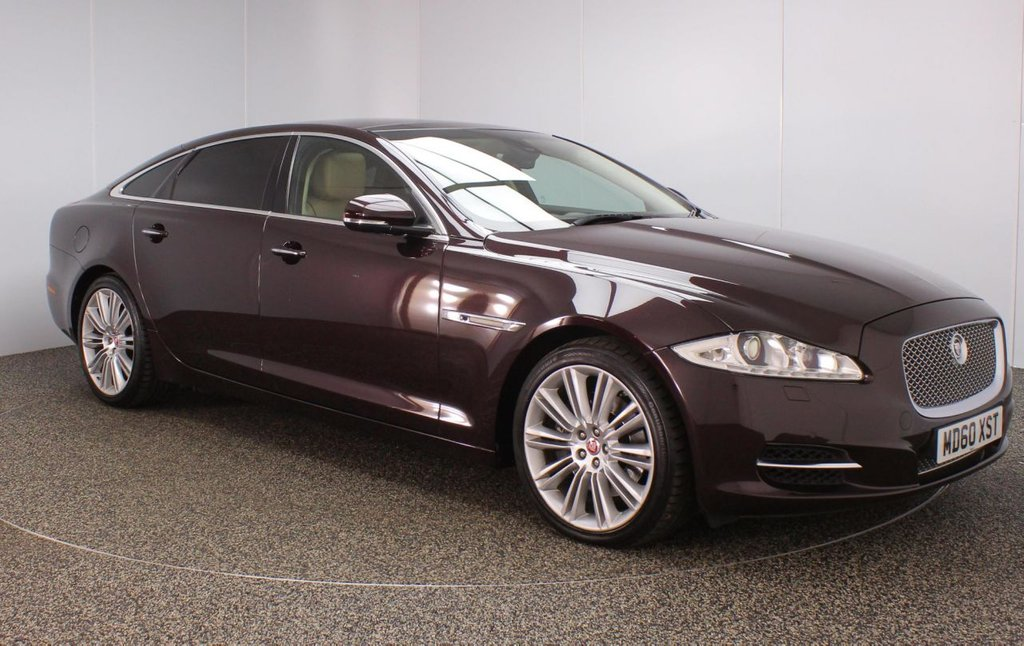 USED 2010 60 JAGUAR XJ 3.0 D V6 PORTFOLIO LWB 4DR AUTO 275 BHP FULL SERVICE HISTORY + HEATED/COOLED LEATHER SEATS + SATELLITE NAVIGATION + REVERSE CAMERA + HEATED/COOLED REAR SEATS + DOUBLE SUNROOF + MASSAGE SEATS + DUAL VIEW TOUCHSCREEN + BLUETOOTH + CRUISE CONTROL + CLIMATE CONTROL + MULTI FUNCTION WHEEL + HEATED STEERING WHEEL + ELECTRIC/MEMORY FRONT SEATS + XENON HEADLIGHTS + PRIVACY GLASS + BOWERS/WILKINS PREMIUM SPEAKERS + ELECTRIC WINDOWS + ELECTRIC/HEATED DOOR MIRROS + 20 INCH ALLOY WHEELS