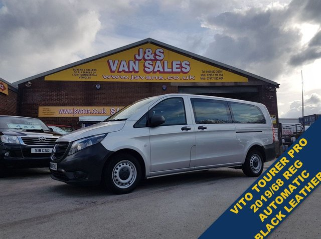 USED 2019 68 MERCEDES-BENZ VITO MINIBUS  BLUETEC TOURER PRO  LEATHER 2019 BUS BIG STOCK OFF EURO 6 MINIBUSES 5 TO 17 SEATS