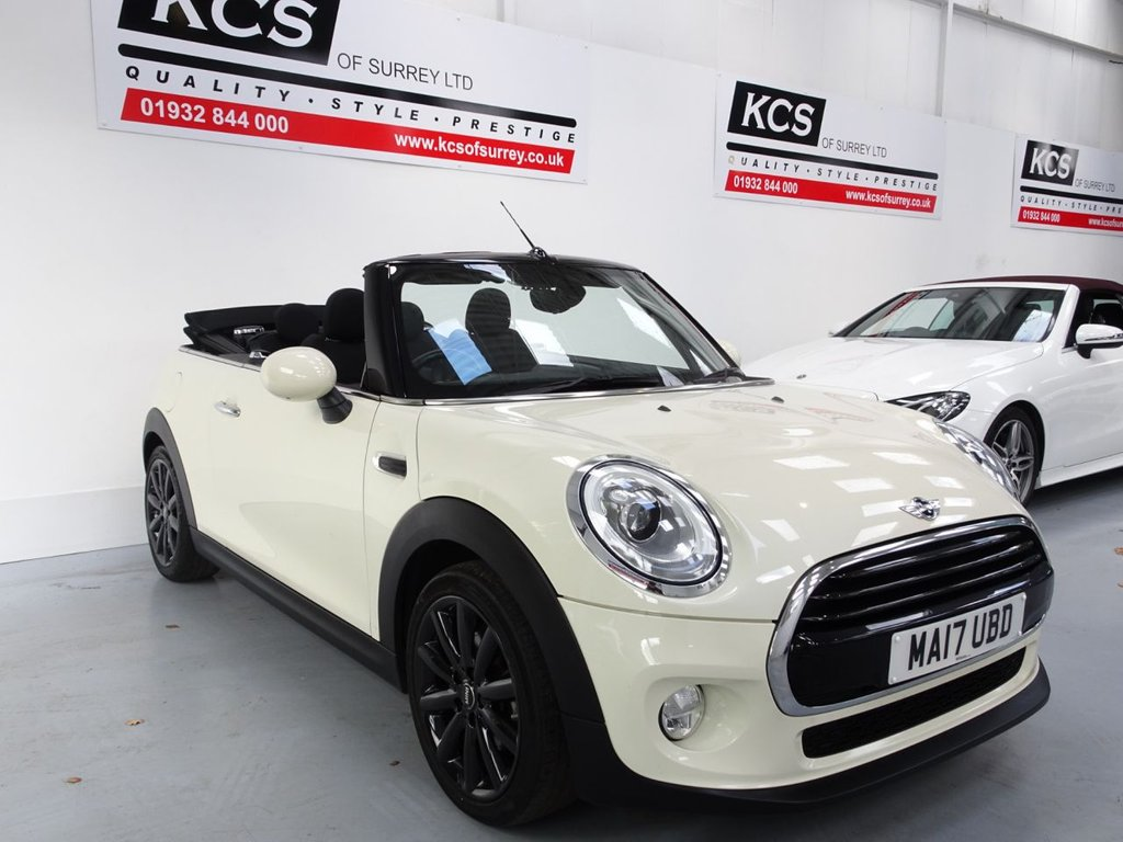 "USED 2017 17 MINI CONVERTIBLE 1.5 COOPER 2d 134 BHP CHILI PACK / 17"" BLACK ALLOYS"