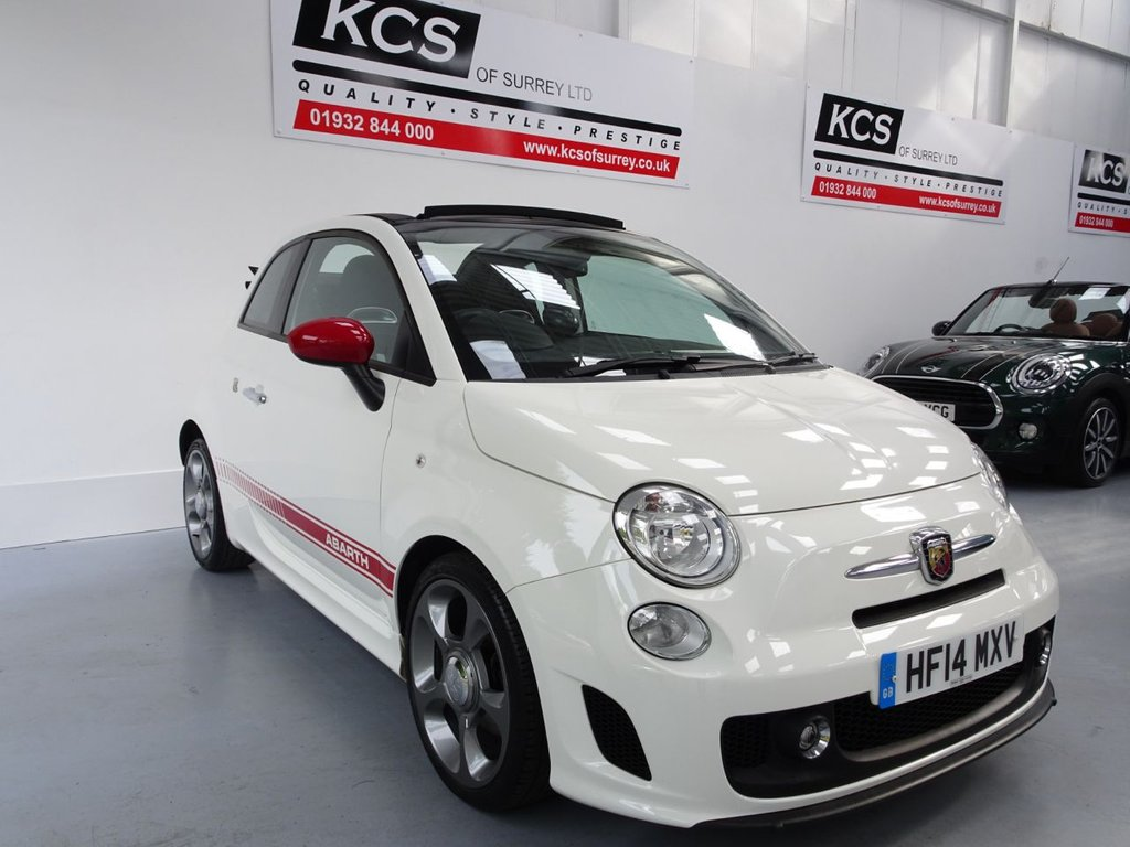 "USED 2014 14 ABARTH 500C 1.4 C ABARTH 3d 135 BHP 17"" ALLOYS / PARKING SENSORS"