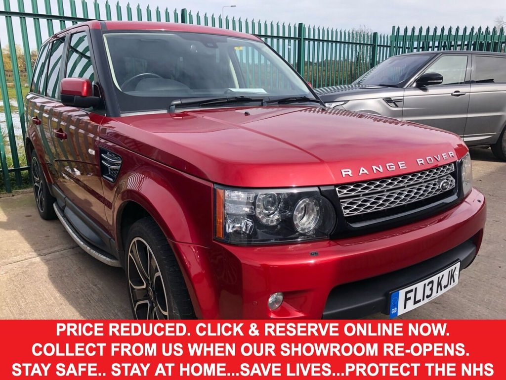 USED 2013 13 LAND ROVER RANGE ROVER SPORT 3.0 SDV6 HSE BLACK 5d Family SUV 4x4 AUTO in a Stunning Colour Combination of Black and Red with Massive High Spec