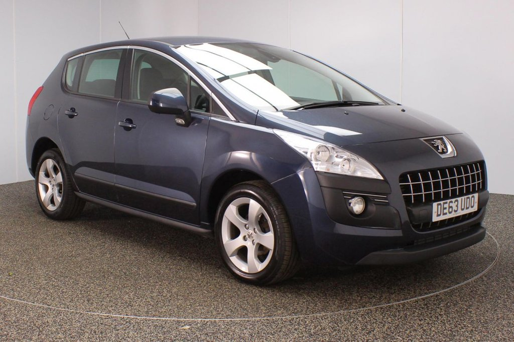 USED 2013 63 PEUGEOT 3008 1.6 E-HDI ACTIVE 5DR 115 BHP SERVICE HISTORY + £20 12 MONTHS ROAD TAX + PARKING SENSOR + BLUETOOOTH + CRUISE CONTROL + AIR CONDITIONING + RADIO/CD + ELECTRIC WINDOWS + ELECTRIC MIRRORS + 17 INCH ALLOY WHEELS