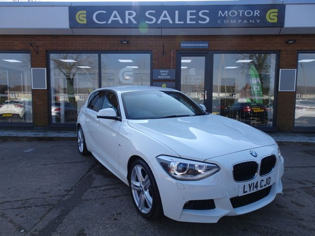 USED 2014 14 BMW 1 SERIES 2.0 118D M SPORT 5d 141 BHP £30 ROAD TAX, LOW MILEAGE ONLY 32K, JUST SERVICED, OVER 3K OF OPTIONAL EXTRAS, M SPORT PLUS PACK, FRONT AND REAR PARKING SENSORS, HEATED SEATS, BLUETOOTH, ALCANTARA/CLOTH INTERIOR, 2 REMOTE KEYS, HPI CLKEAR