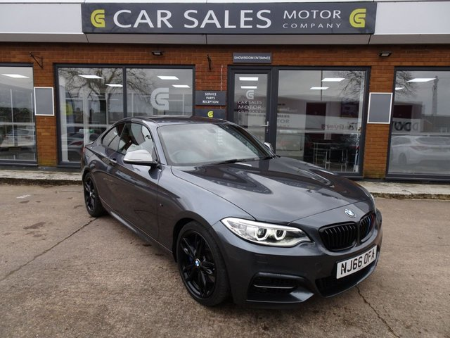 USED 2016 66 BMW M2 3.0 M240I 2d 335 BHP ONE OWNER FROM NEW, LOW MILEAGE ONLY 17K, RED LEATHER, SAT NAV, BLUETOOTH, GLOSS BLACK ALLOYS, FULL BMW SERVICE HISTORY, MOT TILL OCTOBER 2020, HPI CLEAR, 2 REMOTE KEYS
