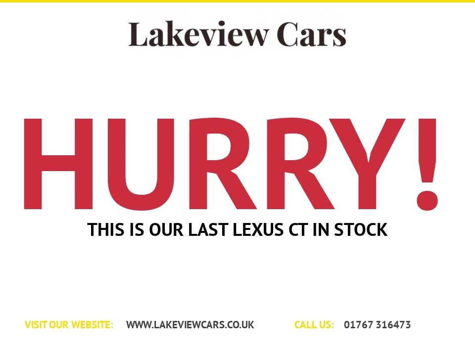 USED 2016 66 LEXUS CT 1.8 200H SPORT 5d 134 BHP