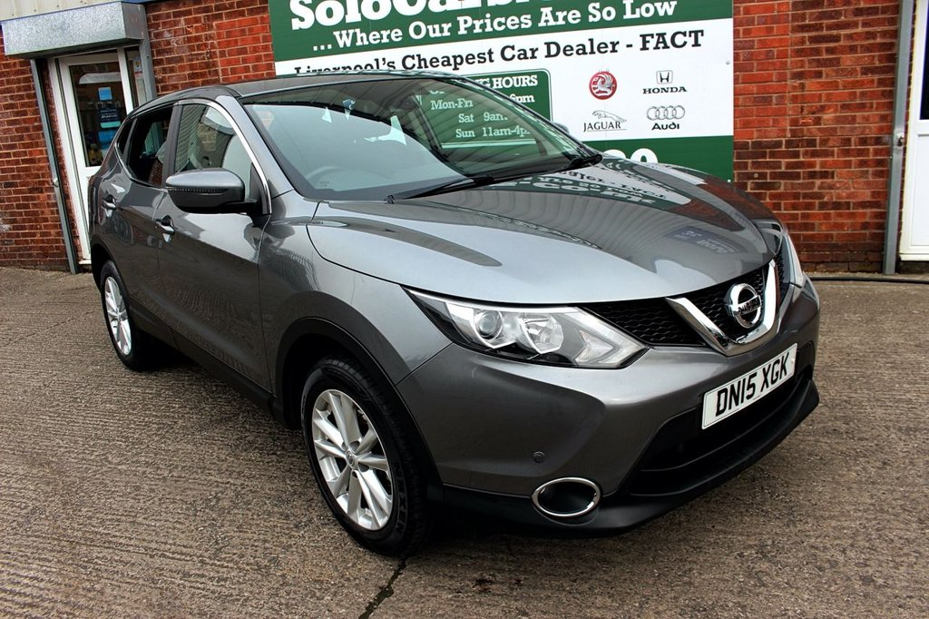 USED 2015 15 NISSAN QASHQAI 1.2 ACENTA DIG-T SMART VISION 5d 113 BHP +ONE PREVIOUS OWNER +FULL SH.
