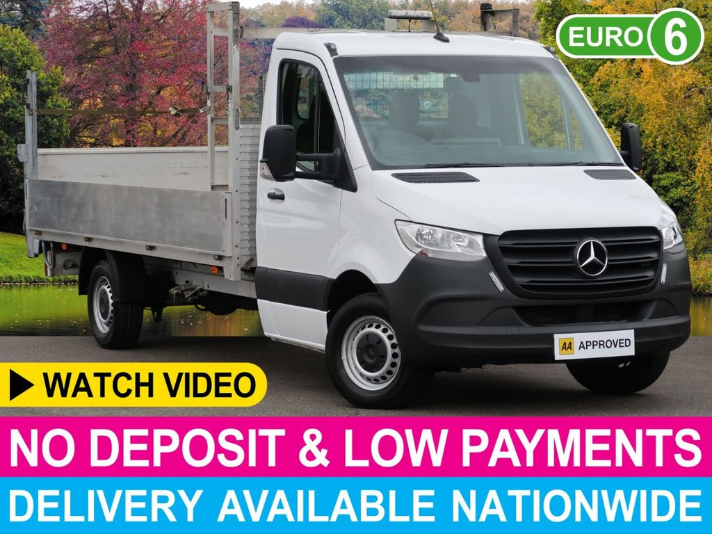USED 2019 68 MERCEDES-BENZ SPRINTER 314 CDI DROPSIDE 4.3M LWB REAR TAIL LIFT 4.3M BODY WITH REAR TAIL LIFT