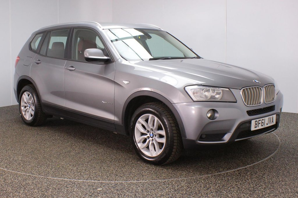 USED 2011 61 BMW X3 3.0 XDRIVE30D SE 5DR AUTO 255 BHP SERVICE HISTORY + LEATHER SEATS + PARKING SENSOR + BLUETOOTH + CRUISE CONTROL + CLIMATE CONTROL + MULTI FUNCTION WHEEL + DAB RADIO + ELECTRIC WINDOWS + ELECTRIC MIRRORS + 17 INCH ALLOY WHEELS