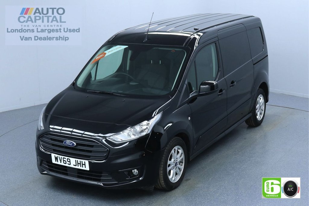 USED 2019 69 FORD TRANSIT CONNECT 1.5 240 LIMITED TDCI 120 BHP L2 LWB AUTO 3 SEATS EURO 6  KEYLESS   AIR CON   PARKING SENSORS   ALLOY WHEELS