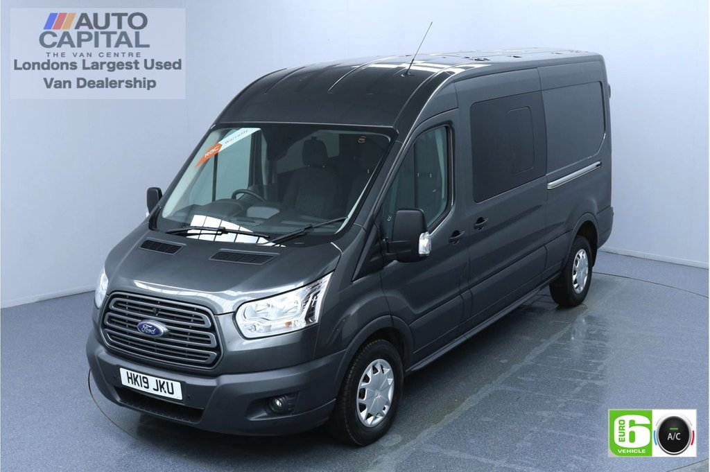 USED 2019 19 FORD TRANSIT 2.0 350 Trend L3 H2 Auto 130 BHP 6 Seats Combi Euro 6 Low Emission Finance Packages Available | Air Con | F-R Sensors | Start/Stop