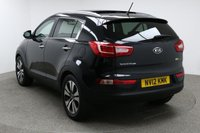USED 2012 12 KIA SPORTAGE 1.7 CRDI 3 5d 114 BHP Finished in stunning metallic Phantom Black + 18 diamond cut Alloys + full black leather interior + In car entertainment - CD / AUX / IPOD /USB + Full service history + Auto start / stop + Air con + Dual climate control + Multi function steering wheel + Cruise control + Electric folding mirrors + Electric windows + Electric sunroof + Rear parking sensors + Auto lights / wipers + Heated front / rear seats + ULEZ EXEMPT