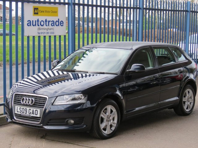 USED 2009 09 AUDI A3 2.0 TDI SE 5d 138 BHP. BOSE SOUND SYSTEM, SERVICE HISTORY BOSE SOUND SYSTEM WITH 8 SPEAKERS, CAT 1 ALARM, ALLOY WHEELS, 6 SPEED GEARBOX