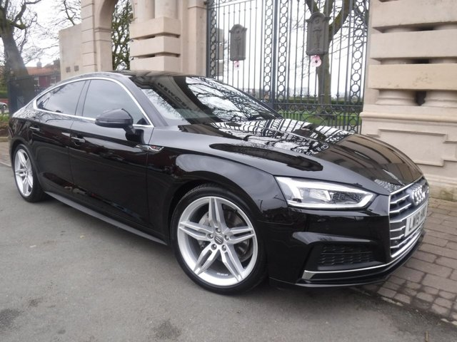 USED 2019 19 AUDI A5 2.0 40 SPORTBACK TDI S LINE 5d 188 BHP FINANCE ARRANGED*PART EXCHANGE WELCOME* PART LEATHER*HEATED SEATS*S/S*FRONT AND REAR PARKING SENSORS