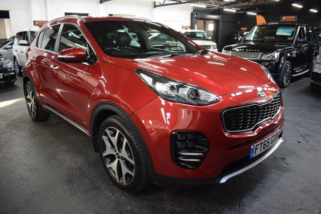 USED 2016 65 KIA SPORTAGE 1.6 GT-LINE 5d 174 BHP 4X4 RARE GT LINE AWD 4X4 AUTO - LOW MILES - SERVICE HISTORY TO 24K MILES - LEAHER - NAV - HEATED SEATS FRONT AND REAR - PRIVACY