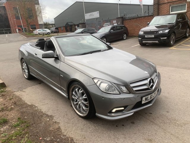 USED 2011 61 MERCEDES-BENZ E-CLASS 3.0 E350 CDI BLUEEFFICIENCY SPORT ED125 2d 265 BHP CONVERTIBLE EXCELLENT EXAMPLE WITH ALLOY WHEELS, HEATED LEATHER SEATS, CRUISE CONTROL, CLIMATE CONTROL,