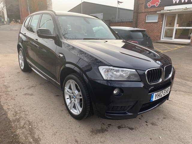 USED 2012 12 BMW X3 2.0 XDRIVE20D M SPORT 5d 181 BHP EXCELLENT EXAMPLE WITH SERVICE HISTORY, ALLOY WHEELS, PARK SENSORS, LEATHER INTERIOR, RADIO/CD/AUX/USB, CRUISE CONTROL, CLIMATE CONTROL, SATELLITE NAVIGATION