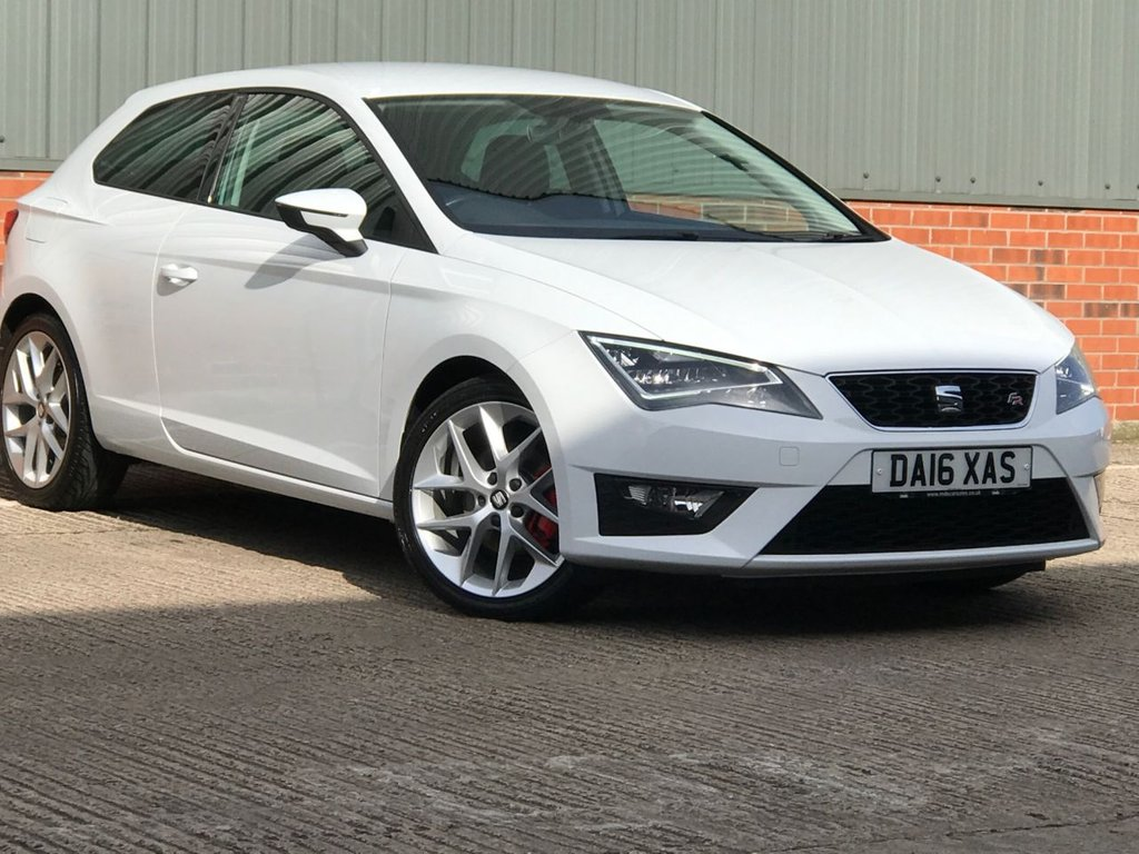 USED 2016 16 SEAT LEON 1.4 ECOTSI FR TECHNOLOGY 3d 150 BHP EXCELLENT LOW MILEAGE EXAMPLE