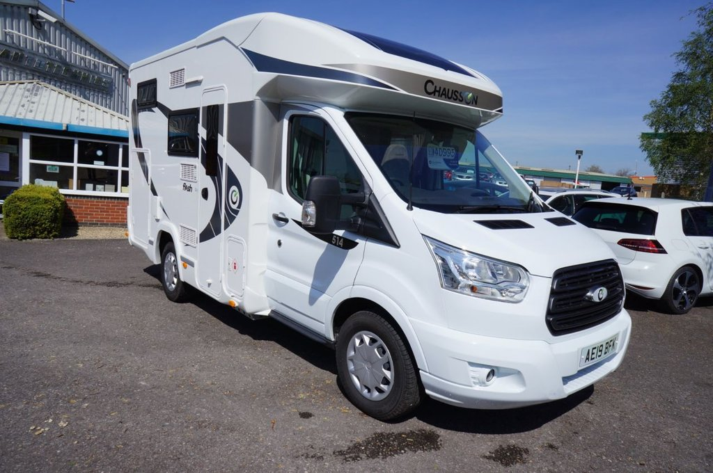 USED 2019 19 FORD CHAUSSON 2.0 FLASH 514 low profile Chausson Flash C514 Low profile model with only 300 miles! All furnishings still covered with manufacturers plastic wrapping.