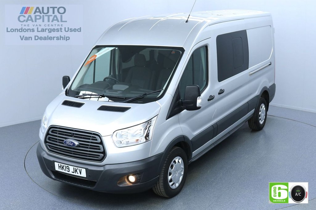 USED 2019 19 FORD TRANSIT 2.0 350 TREND L3 H2 AUTO 130 BHP 6 SEATS COMBI EURO 6 AIR CON | PARKING SENSORS