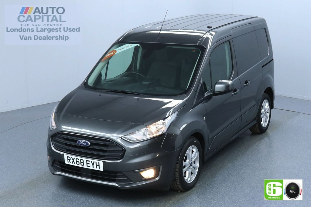 USED 2018 68 FORD TRANSIT CONNECT 1.5 200 LIMITED TDCI 120 L1 SWB  3 SEATS EURO 6 AIR CON | PARKING SENSORS | ALLOY WHEELS