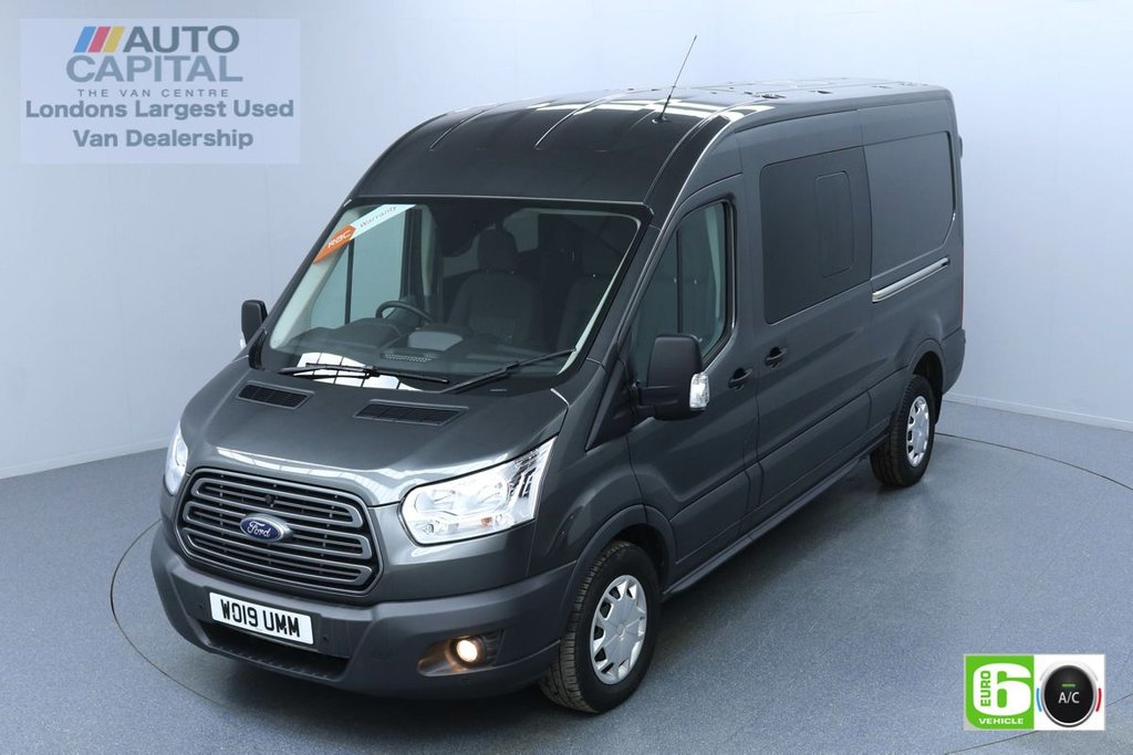 USED 2019 19 FORD TRANSIT 2.0 350 TREND L3 H2 AUTO 130 BHP 6 SEATS COMBI EURO 6 FINANCE ME TODAY | AIR CON | PARKING SENSORS | ALLOY WHEELS