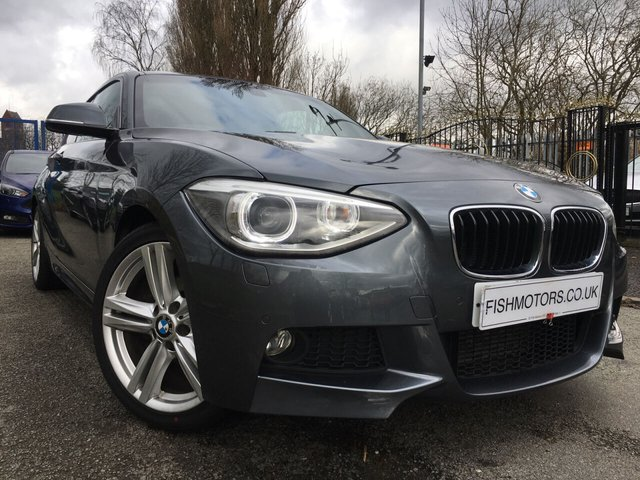 USED 2013 13 BMW 1 SERIES 1.6 118I M SPORT 3d 168 BHP FULL HEATED LEATHER SEATS+18ALLOYS+CLIMATE+ELEC+PARKING+MEDIA+AUX+USB+CLEANCAR+XENONS+DRIVER AND INTERIOR COMFORT PACK+