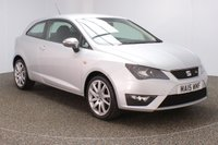 USED 2015 15 SEAT IBIZA 1.2 TSI FR 3DR SAT NAV 104 BHP FULL SERVICE HISTORY + £30 12 MONTHS ROAD TAX + SATELLITE NAVIGATION + BLUETOOTH + CRUISE CONTROL + AIR CONDITIONING + RADIO/CD/AUX + ELECTRIC WINDOWS + ELECTRIC DOOR MIRRORS + 17 INCH ALLOY WHEELS