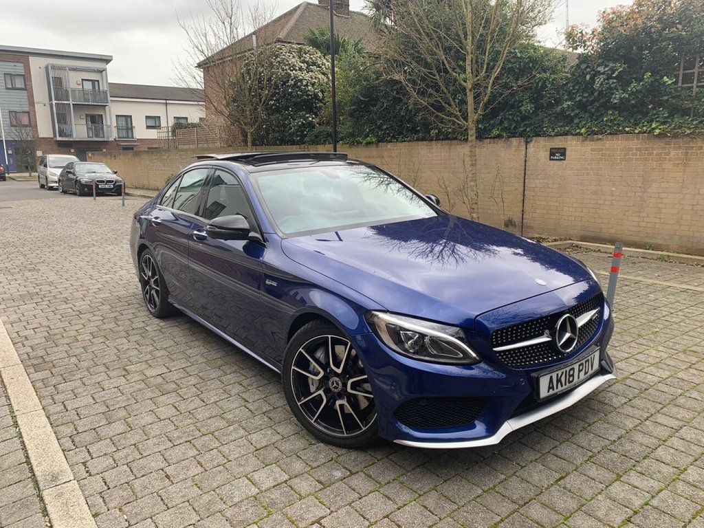 USED 2018 18 MERCEDES-BENZ C-CLASS 3.0L AMG C 43 4MATIC PREMIUM 4d AUTO 362 BHP 360 CAM, CARBON, SOUND SYSTEM, PANROOF, WARRANTY