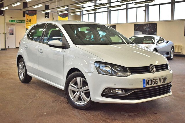 USED 2017 66 VOLKSWAGEN POLO 1.2 MATCH EDITION TSI 5d 89 BHP + 1 OWNER  +  FULL SERVICE HISTORY + 15 MONTHS WARRANTY + 12 MONTHS MOT +