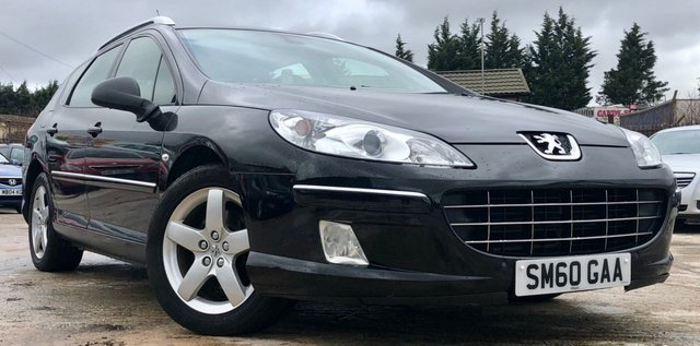 USED 2010 60 PEUGEOT 407 SW 2.0 HDI SPORT 5d 163BHP AUTO RARE AUTOMATIC ESTATE+BLUETOOTH+MEDIA+PANORAMIC GLASS SUNROOF+ELECTRIC SEATS+2 OWNERS+LOW MILES FOR AGE+BLUETOOTH+MEDIA+2KEYS+ALLOY WHEELLS+CRUISE CONTROL+MEDIA+ELECTRICS+AIR CONDITIONING+CLIMATE CONTROL+FULL SERVICE HISTORY+